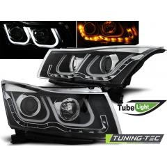 Передние фары TUBE LIGHT BLACK для Chevrolet Cruze