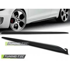 Накладки (листва) на пороги GTI style для VW Golf MK6