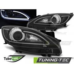 Передние фары TUBE LIGHT BLACK для Mazda 3 BL