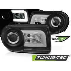 Передние фары BLACK TUBE LIGHT для Chrysler 300C