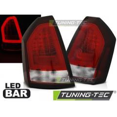 Задние фонари RED WHITE LED BAR для Chrysler 300C (2005-2008)