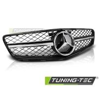 Решетка радиатора C63 STYLE GLOSSY BLACK-CHROME для Mercedes C W204