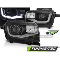 Передние фары TUBE LIGHT BLACK для Chevrolet Camaro