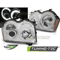 Передние фары CHROME TUBE LIGHT для Jeep Grand Cherokee WK (2005-2008)
