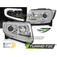 Передние фары CHROME TUBE LIGHT SEQ для Jeep Grand Cherokee WK2