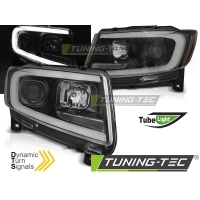 Передние фары BLACK TUBE LIGHT SEQ для Jeep Grand Cherokee WK2