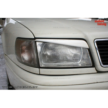 Реснички на фары косые для Audi 100 C4