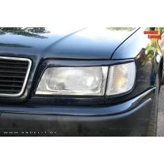Накладки (реснички) на фары для Audi 100 C4