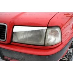 Накладки (реснички) на фары короткие для Audi 80 B4