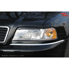 Накладки (реснички) на фары для Audi A8 D2
