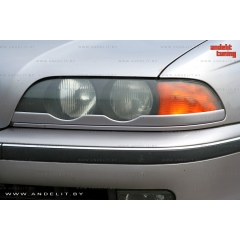 Накладки (реснички) на фары нижние для BMW 5 E39