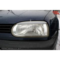 Накладки (реснички) на фары для Volkswagen Golf 3