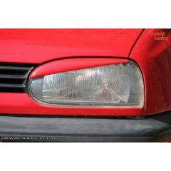 Накладки (реснички) на фары косые для Volkswagen Golf 3