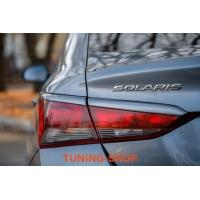 Ресницы на фонари для Hyundai Solaris 2