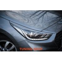 Накладки (реснички) на фары для Hyundai Solaris II